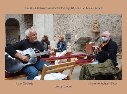 Několik písní v kostele Nanebevztetí Pany Marie  (Ivo Zídek-kytara  a  Ivan Michalička-housle, 20.5.2020)